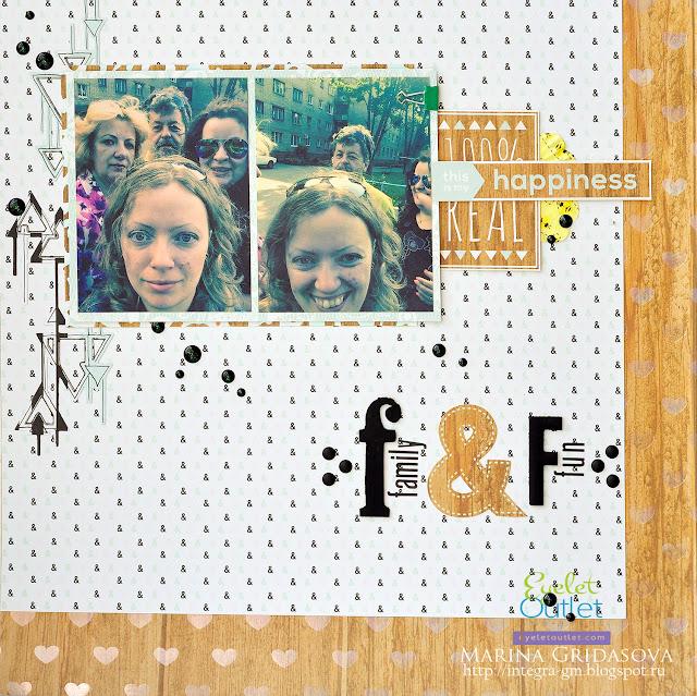 F&F @akonitt #layout #by_marina_gridasova #dcwv #mintylace #scrapbooking