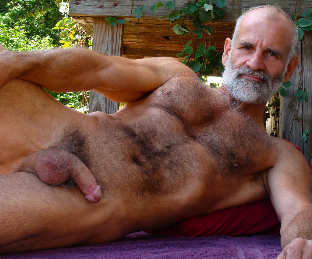 hairy gay grandpa