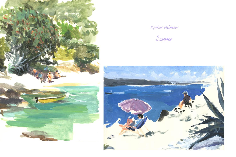 Sommermoods von Kristina Heldmann und Sommergedanken von mir.