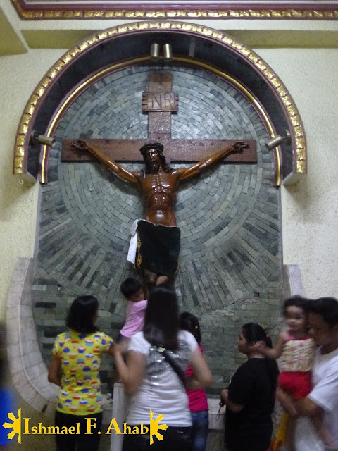 Image of the Crucified Jesus in Our Lady of the Most Holy Rosary, Queen of Caracol Church in Rosario, Cavite