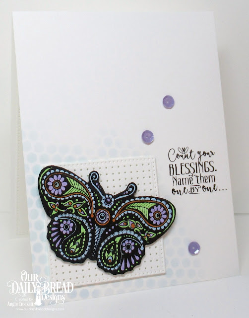 ODBD Boho Blessings, ODBD Custom Pierced Squares Dies, Card Designer Angie Crockett