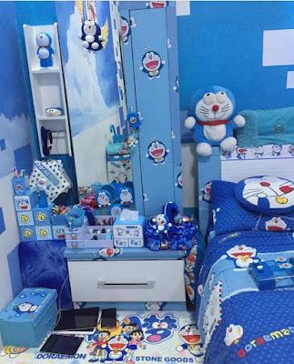 Gambar Kamar Tidur Doraemon Nuansa Biru