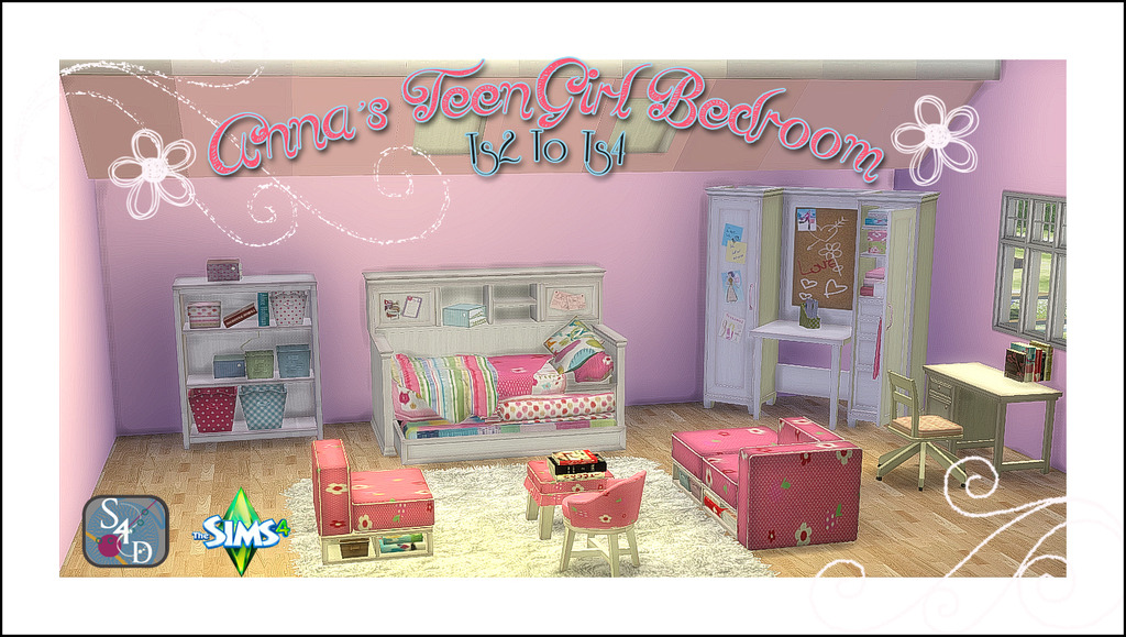 My Sims 4 Blog Ts2 Anna S Teen Girl Bedroom Conversion By