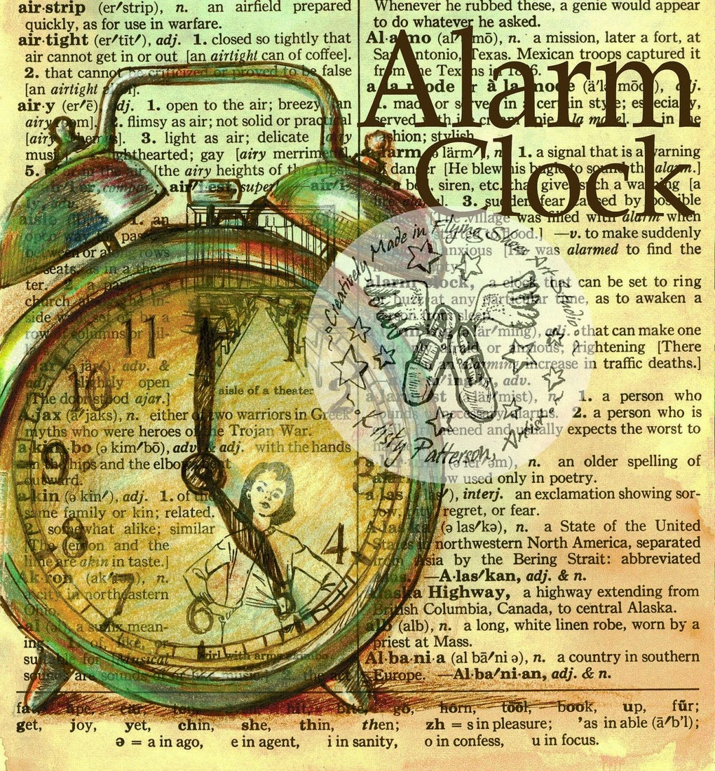 16-Alarm-Clock-Kristy-Patterson-Flying-Shoes-Art-Studio-Dictionary-Drawings-www-designstack-co