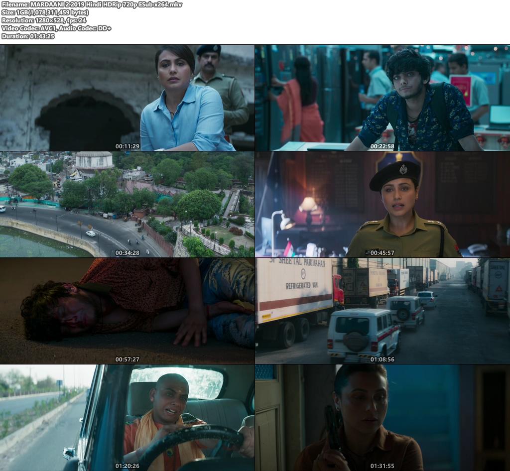 MARDAANI 2 2019 Hindi HDRip 720p ESub x264 | 480p 300MB | 100MB HEVC Screenshot