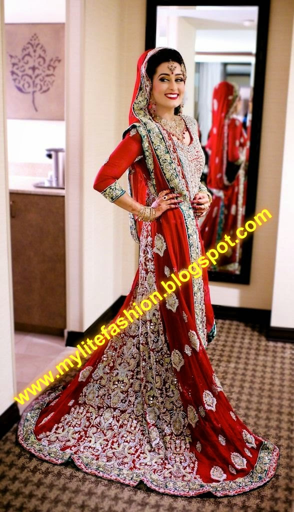 Here You Can See The Wonderful Picture Of Pakistani Wedding Dresses 2016 For Young Girls These Are Wide Range Impressive Colors