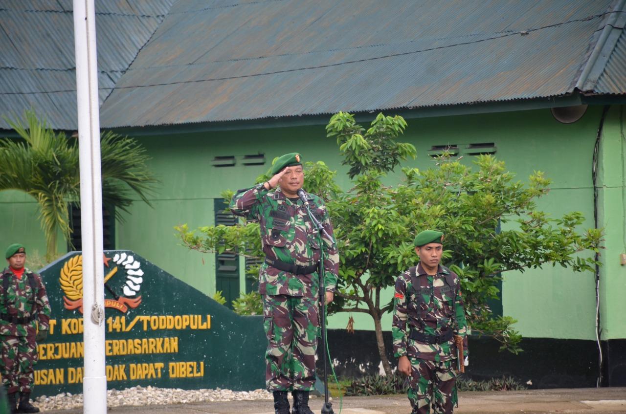 Personel Makorem 141/Tp Laksanakan Upacara 17, Ini Amanat Panglima TNI