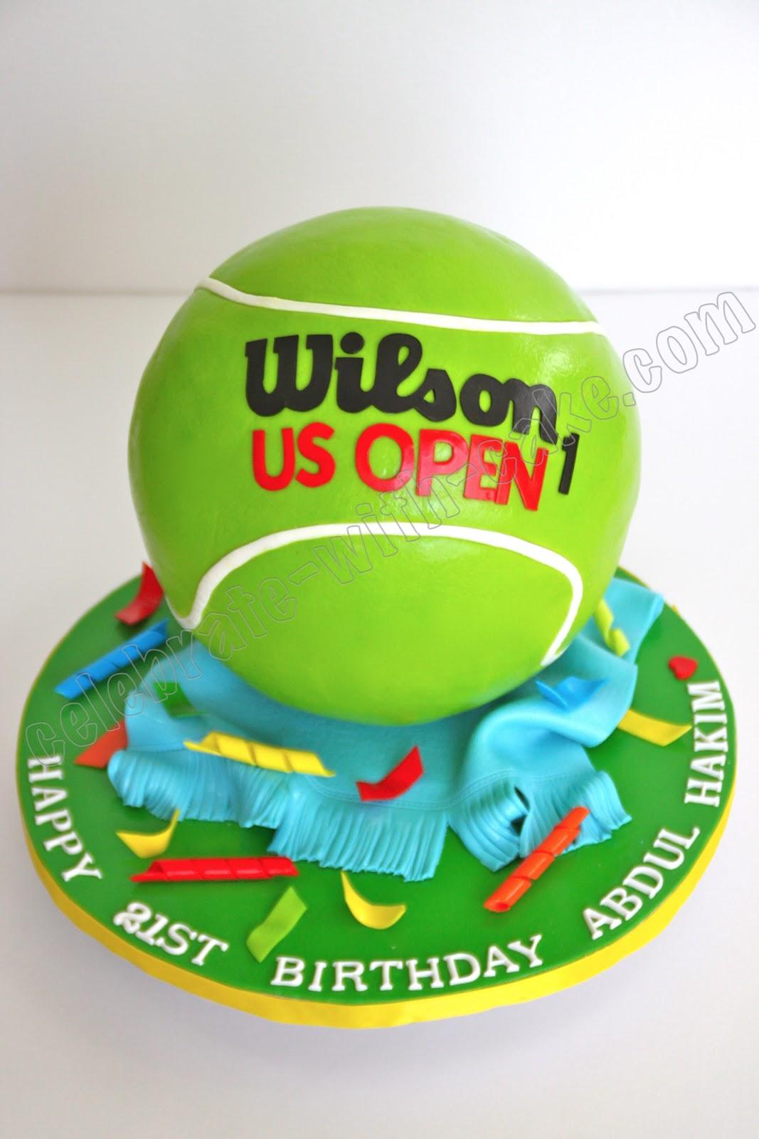 Tennis Ball Theme Birthday Cake Designs