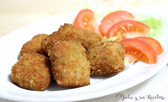 Cuadraditos con carne. Julia y sus recetas