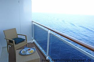 Frühstück auf dem Balkon eines Kreuzfahrtschiffes: Foto von unabhängiger Stampin' Up! Demonstratorin in Coburg