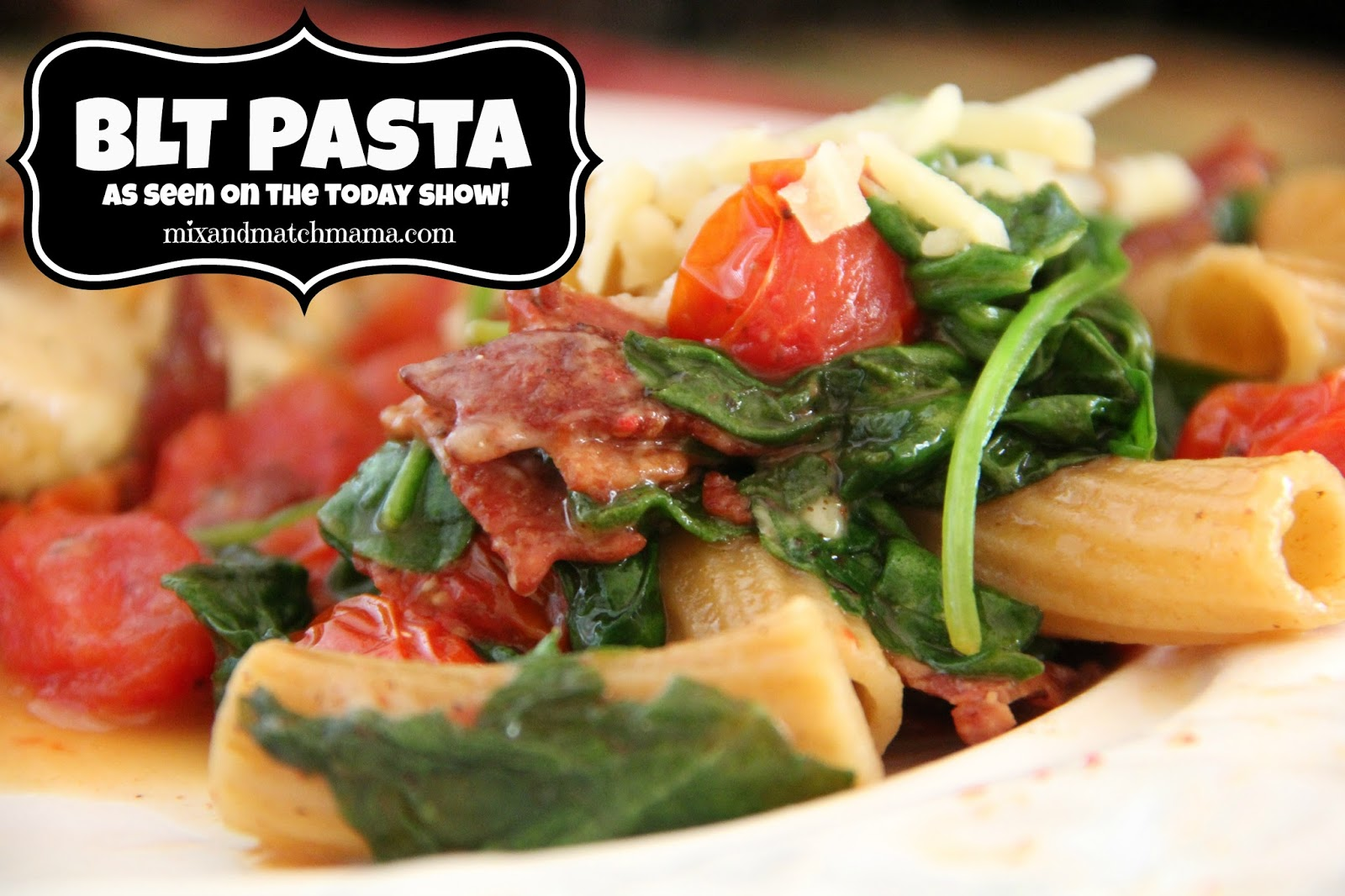 ... my foodie blog today i m sharing my blt pasta from the episode today