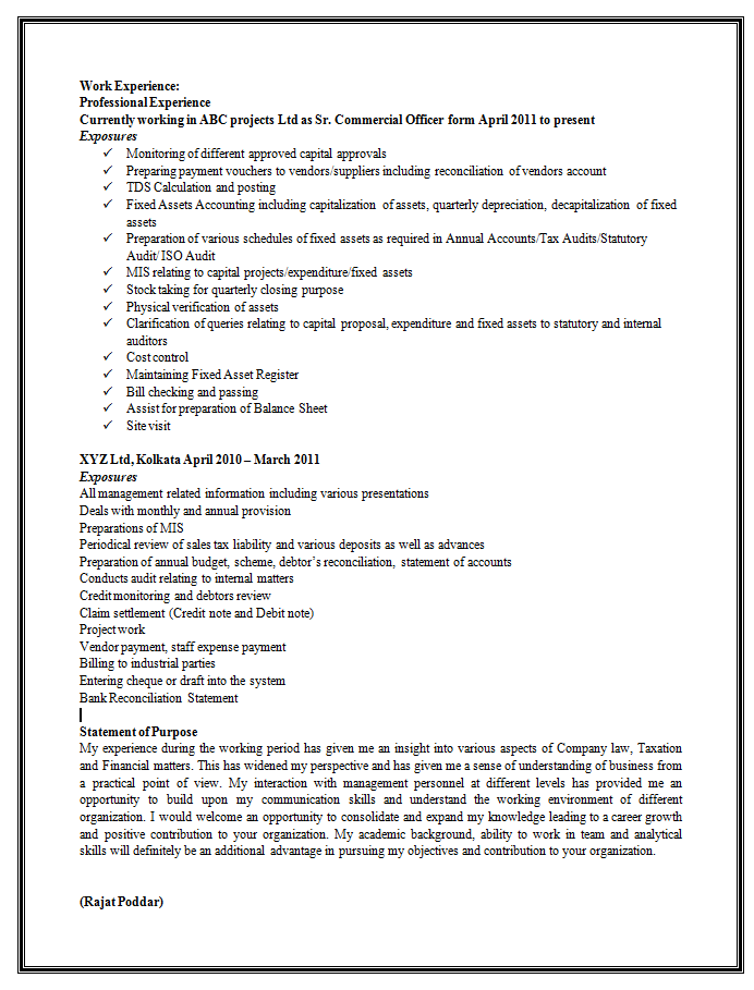 New Resume Format Sample | Resume Format Download Pdf