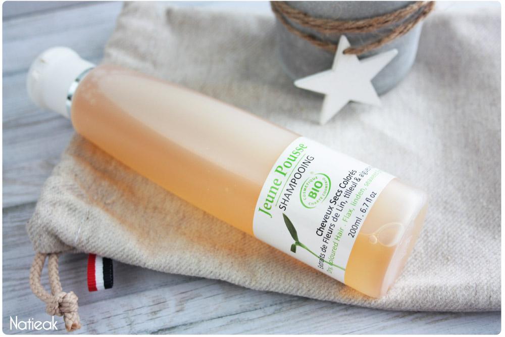shampooing cheveux secs  et colorés de Jeune Pousse