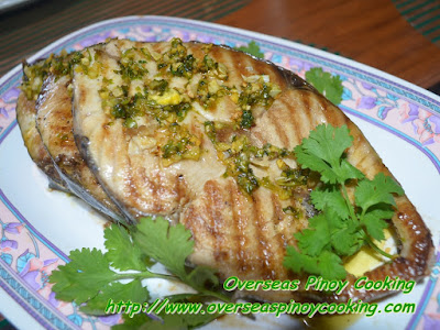 Grilled Tanguige Steaks with Star Margarine Garlic Sauce