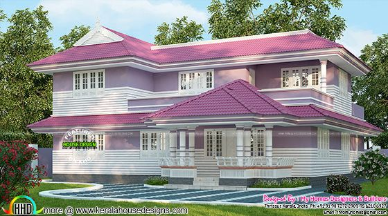 Pink roof home design