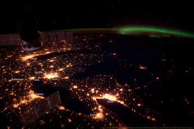 Great Lakes At Night As Seen From Space Stellar Neophyte