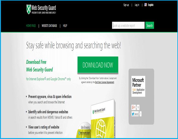 halaman utama situs www.websecurityguard.com