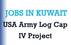 Jobs in Kuwait – USA Army Log Cap IV Project – Departure within 30