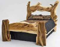 cama rustica de madera