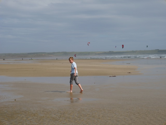Tramore Beach kite surfer
