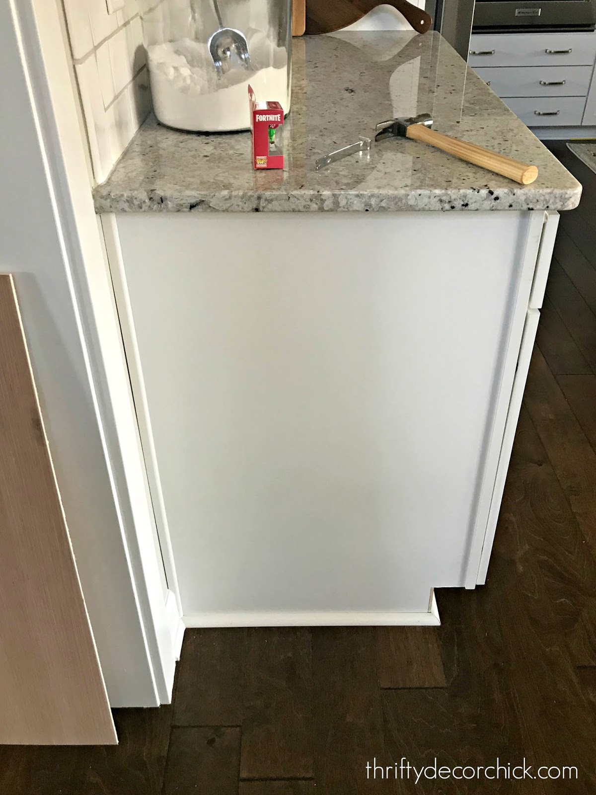 Upgrading the ends of builder grade cabinets