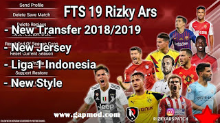Download FTS 19 Mod by Rizky Ars Update Team Season 2018/2019