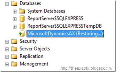 Sql server database in use when restore — photo 1