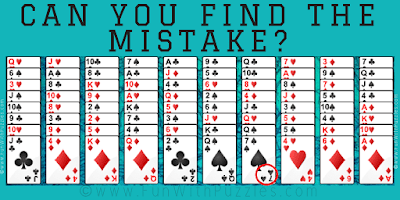 Answer of Card Mistake Finding Mind Puzzle