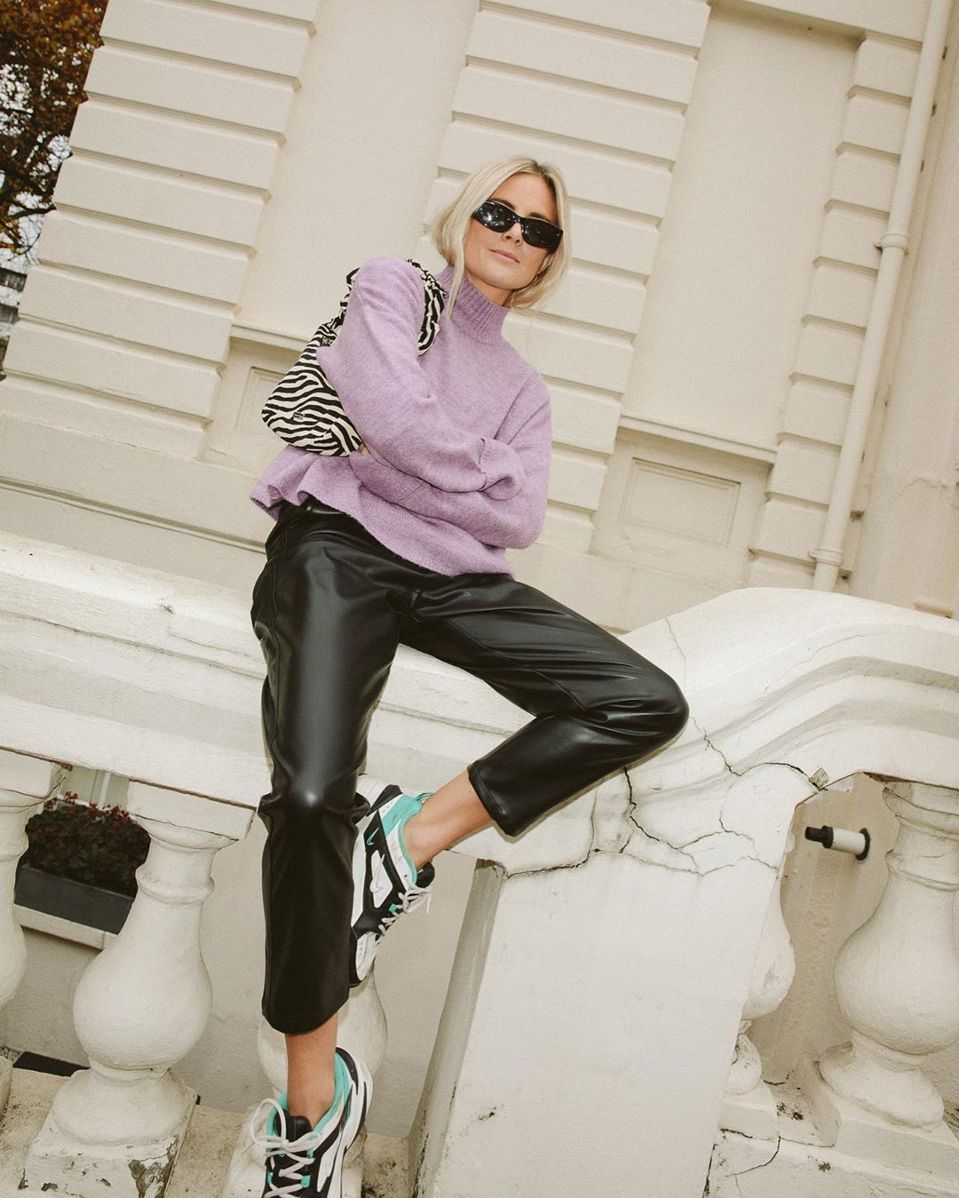 Lucy Williams Embraces Leather Trousers for Winter
