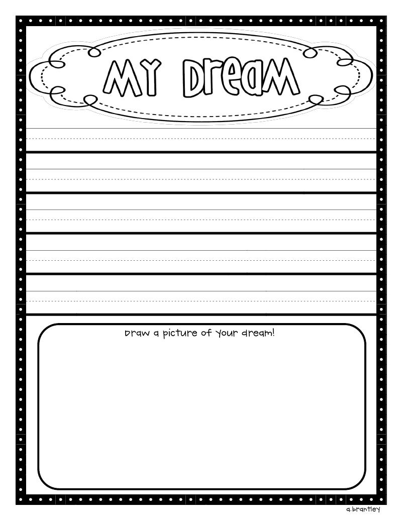 Crazy for First Grade: I have a dream......