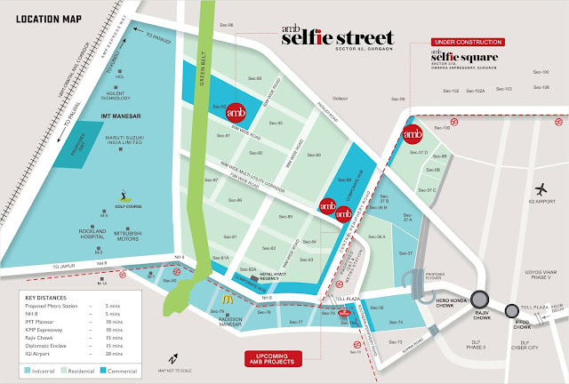amb Selfie street location map