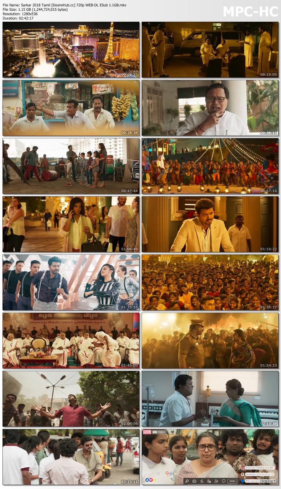 Sarkar 2018 Tamil 480p WEB-DL ESub 400MB Desirehub
