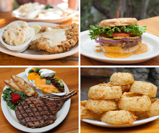 House specials at the Gristmill River Restaurant & Bar in Gruene, Texas