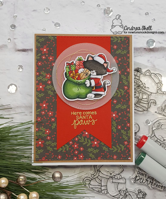 Here Comes Santa Paws by Andrea features Santa Paws Newton by Newton's Nook Designs; #newtonsnook