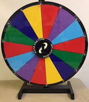 giant color spinning wheel Suzuki Method group class teaching resource