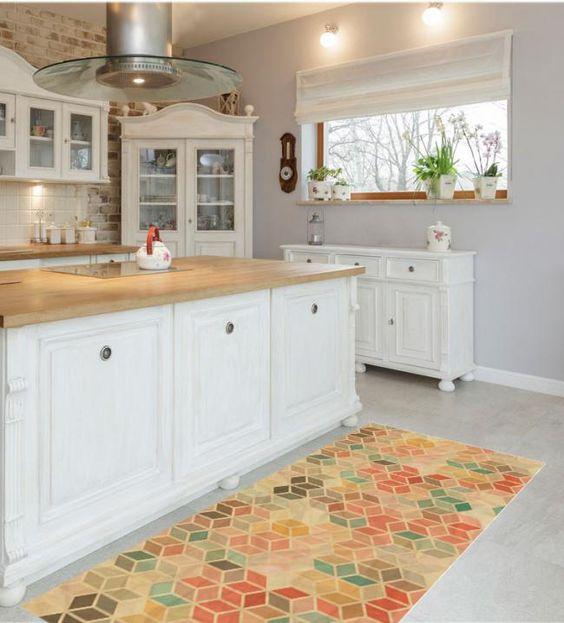 Persiguiendoaeva cambiando el aspecto de tu cocina - Alfombras vinilicas cocina ...