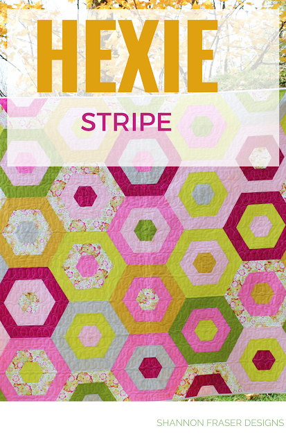 Hexie Stripe Quilt | Suzy Quilts Pattern | Q1 2018 Finish-A-Long Quilt Projects | Shannon Fraser Designs | Modern Quilting | WIP | Quilt Patterns | Color