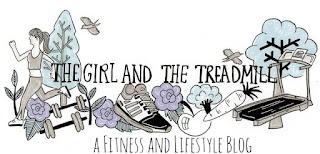 The girl and the treadmill logo