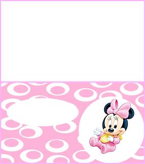 Para hacer invitaciones, tarjetas, marcos de fotos o etiquetas, para imprimir gratis de Minnie Primer Año.