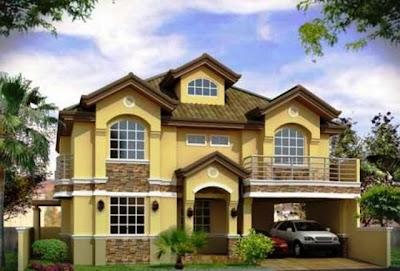 design rumah mewah gaya eropa terbaru - desain interior