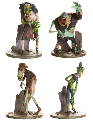 ParaNorman Action Figures by Huckleberry - Zombie Judge, Zombie Lemuel, Zombie Amelia & Zombie Will