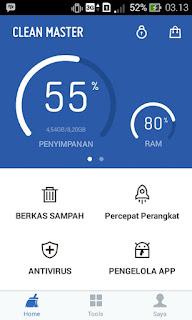 Aplikasi clean master