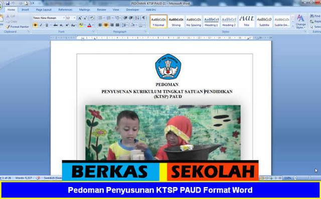 Pedoman Penyusunan KTSP PAUD Format Word Terbaru