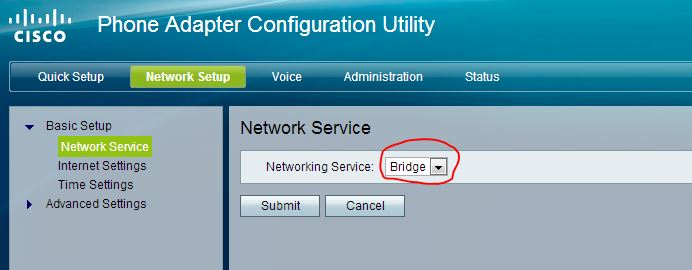My Work: Configure VoIP in your Cisco SPA122 adapter