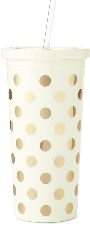 kate spade new york gold dot insulated tumbler