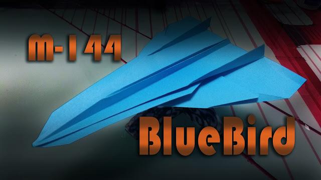 Avión de papel M-144 BlueBird
