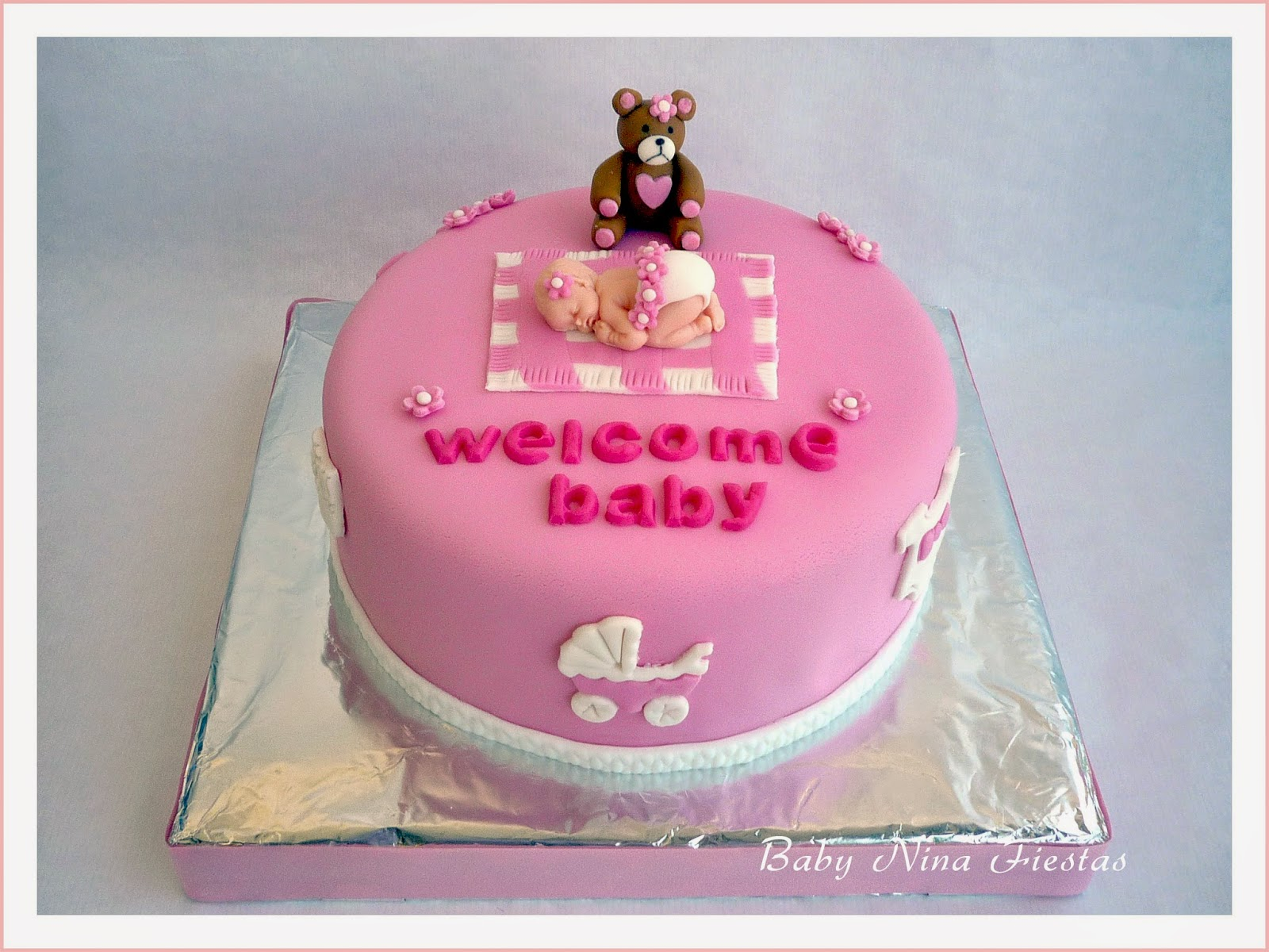 Baby nina fiestas tarta baby shower ni a - Baby shower de nina ...