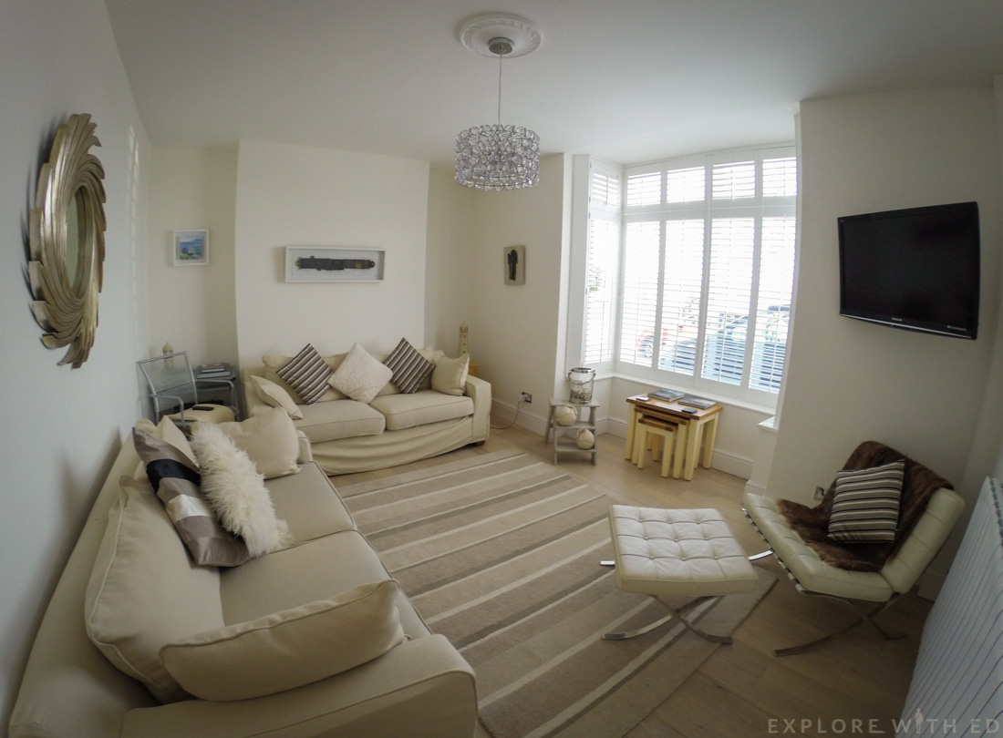 Promenade View interior, Living Room, Swansea Holiday Let