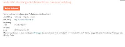 Cara menambah admin di blog
