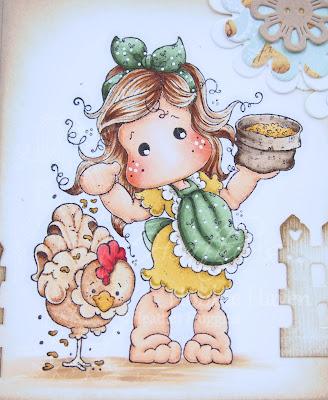 Heather's Hobbie Haven - Tilda with Cock-A-Doodle-Doo Rooster Card Kit